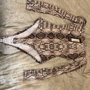snakeskin print, off the shoulder, bodysuit